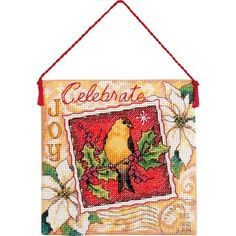 """Look what I found on #blitsy! Gold Petites Joy Ornament Counted Cross Stitch Kit-4-1/2""""X4-1/2"""" 18 Count #blitsybuys"""