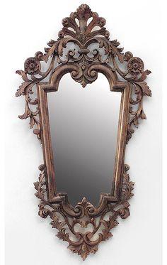 Italian Rococo mirror wall mirror pine