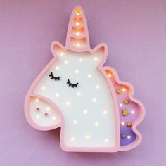 Unicorn Wooden Nightlamp HOME Nighstyle. Children bedrooms decoration - Kawaii unicorn table lamp- colourful home accessories
