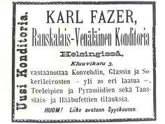 Fazer Makujen tarinat, 1930