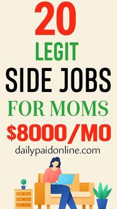 Make Side Money, Ways To Earn Money, Earn Money From Home, Money Saving Tips, Saving Ideas, Legit Work From Home, Legitimate Work From Home, Work From Home Jobs, Extra Cash