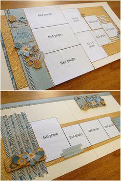Scrapbook generation - Allison Davis layout, top; Debbie Sanders layout,