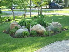 Front Yard Rock Garden Landscaping Ideas (53) #LandscapeFrontYard #LandscapingIdeas