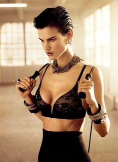 Lingerie Editorial: Saskia De Brauw Poses for H Magazine Fall 2012-Global Intimate Wear