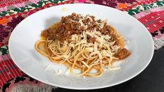 Jednoduchá zmes na špagety (videorecept) - recept   Varecha.sk Thing 1, Pasta Noodles, Spaghetti, Ethnic Recipes, Macaroni, Noodle