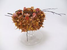 Spiked Autumn leaf cauldron ready to design with