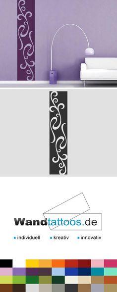 Wandbanner verschnörkelte Ornamente als Idee zur individuellen Wandgestaltung. Einfach Lieblingsfarbe und Größe auswählen. Weitere kreative Anregungen von Wandtattoos.de hier entdecken!