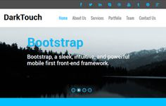 Free Bootstrap Responsive web template mobile templates