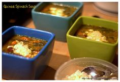 Quinoa Spinach Soup with Feta Cheese