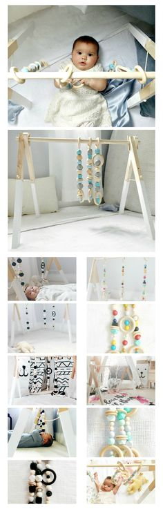 Could it be? A functional, modern baby gym stylish enough for your living room.   Designed to provide a feeling for the aesthetics of shape and color, our wooden gyms are made with a timeless style that can go beyond the nursery. Quality craftsmanship, eco-friendly materials and functionality provide the foundation for our handmade wooden toy collection.