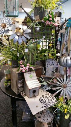 Garden Display - Sturgeon Bay Sturgeon Bay, Spring Garden, Display, Table Decorations, Create, Plants, Furniture, Shop, Home Decor