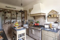 Kitchen in France. French Kitchen via e-magDECO: Le Clos Saint Fiacre »