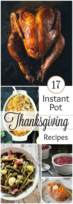 These Instant Pot Thanksgiving Recipes are your ticket to holiday sanity! Since oven space is always at a premium for the big feast, this year, get a little creative and use that electric slow cooker to save room in your jam-crammed oven. Healthy Thanksgiving Recipes, Holiday Recipes, Dinner Recipes, Healthy Recipes, Thanksgiving Food, Instant Pot Pressure Cooker, Pressure Cooker Recipes, Pressure Cooking, Slow Cooker