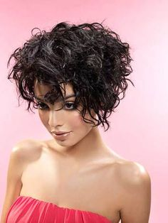 short curly haircut for girls