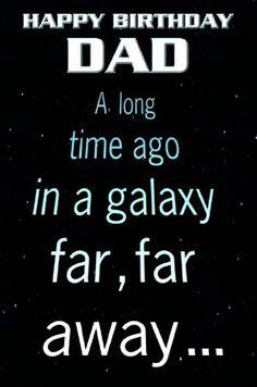 Star Wars SW410 Carte d'anniversaire La Guerre des Étoiles pour papa