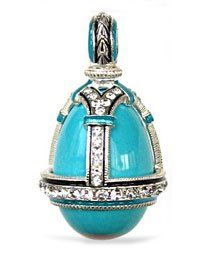 Turquoise Necklace Jewelry Russian Faberge Style Egg Pendant 925 Sterling Silver 18kt Gold Gilding Enameled Swarovski Stones New!!! Needzo Religious Gifts. $180.00. Turquoise Necklace Jewelry Russian Egg Pendant 925 Sterling Silver 18kt Gold Gilding Enameled. Save 10% Off!