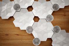 Porcelain Set TablewarebySvetlana Kozhenovis a geometric set…