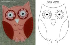 I love it! Owl Printable. So versatile could use fabric, fancy paper or make it as a basic kid craft.