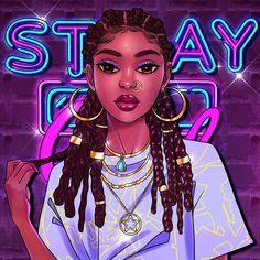 Black Love Art, Black Girl Art, Cute Drawlings, Cute Art, Black Bratz Doll, Drawings Of Black Girls, Beautiful Girl Drawing, Black Art Painting, Black Girl Cartoon