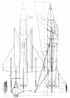 """the Messerschmitt Me X1-21tailsitter concept - designed to meet the requirements of West Germany's Bundesministerium der Verteidigung (BMVg, """"Ministry of Defense"""") for a high-altitude supersonic fighter-interceptor in 1957.     (via, other concepts can be viewed via the AIAA V/STOL archives)"""