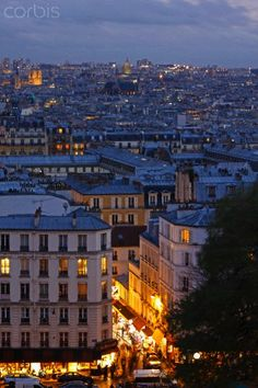 Skyline Of Paris From Montmartre; Paris France