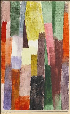 Paul Klee 'braunes Δ rechtw. strebendes Dreieck' (Brown striving at right angles) 1915 Watercolor on chalk primer on paper on cardboard 21.3 x 13.4 cm