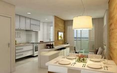 Sala e cozinha americana.