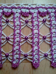 This Pin was discovered by HUZ Crochet Blocks, Crochet Borders, Crochet Squares, Crochet Stitches, Crochet Patterns, Crochet Art, Thread Work, Beautiful Crochet, Shape Patterns