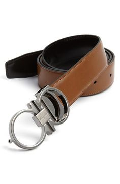 Salvatore Ferragamo Reversible Leather Belt | Nordstrom