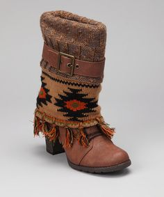 Take a look at this Brown Cassandra Fringe Boot - Women by MUK LUKS on #zulily today!