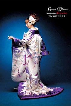 purple wedding kimono