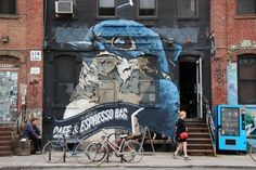 Beautiful street art, Brooklyn NYC