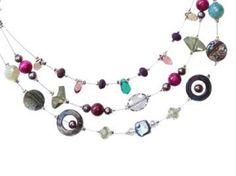 Checkout this amazing deal Multi strand necklace purple and turquoise pearl,$49