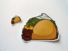 Taco Vinyl Stickers - 5 Inch Street Art Slap + A Mini taco Too! - #cutecoolawesome