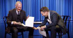 Michael Keaton and Jimmy Fallon read scripts written by children -hilarious!