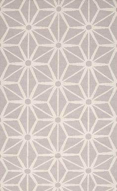 Light Gray & White Fallon Wool Rug