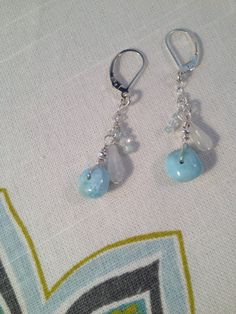 Rare Larimar stone dangle earrings accented by TerraMarJewelry, $33.00