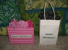 Frugal Gift Bags