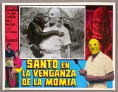 SANTO: VENGANZA DE LA MOMIA, Original 1971 U.S. Azteca Lucha Libre LC