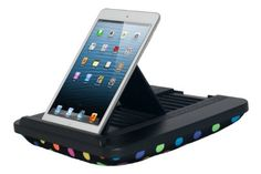 Prop 'n Go Slim - Adjustable Bed Holder & Lap Stand for iPad, iPad Air, iPad mini, Tablets and eReaders with Multi Angle Control (Polka Dots) Padded Spaces,http://www.amazon.com/dp/B0095PEF70/ref=cm_sw_r_pi_dp_yOsRsb1ZV7S7RD4S