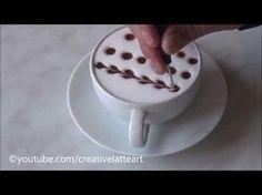 Creative Latte Art For Beginners | Tutorial 10 - YouTube