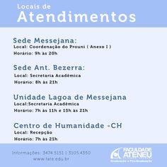 Informações sobre os locais de atendimentos da atualização da Bolsa Prouni.  #ateneuinforma