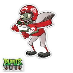 WALLS 360 wall graphics: Plants vs Zombies Football Zombie http://www.walls360.com/plants-vs-zombies-football-zombie-p/9144.htm
