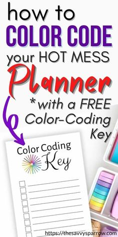 Kids Planner, Planner Tips, Daily Planner Printable, Free Planner, Planner Layout, Happy Planner, Free Printable, Color Coding Planner, How To Make Planner