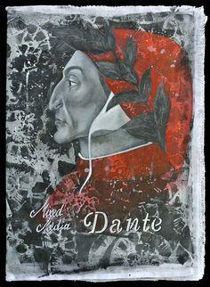 """Il libro vuole essere un saggio illustrato, a mia interpretazione, dell'Inferno de """"La Divina Commedia"""" di Dante Alighieri; L'opera che più amo di questo illustre uomo italiano. Quindi mi sono ispirata a personaggi attuali reinserendoli nel contesto infernale. Caronte è un ba Commedia, Dante Alighieri, Moose Art, Mixed Media, My Love, Painting, Animals, Animales, Animaux"""