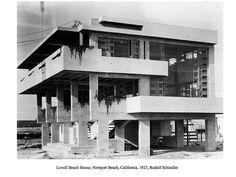 Lovell Beach House, Newport Beach, California, 1923, Rudolf Schindler