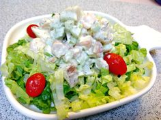 A cool but filling combination of roasted shrimp and potatoes combined like a traditional potato salad. A little something special for a summer salad.