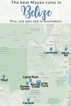 Travel With Kids, Family Travel, Travel Advice, Travel Tips, Belize Travel, Mayan Ruins, Archaeological Site, Travel Inspiration, Map