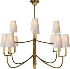 "LARGE FARLANE CHANDELIER Overall Height: 60"" *   Width: 48"""