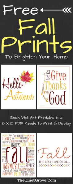 4 Free Fall Prints to Brighten Your Home